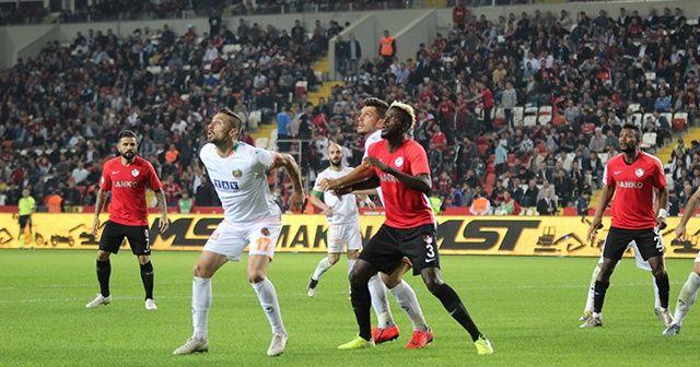 Süper Lig: Gaziantep FK: 1 - Alanyaspor: 1 (Maç sonucu)