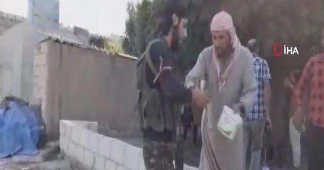 Suriye Milli Ordusu'na halktan ayran ikramı