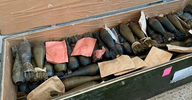 Tel Abyad'da YPG-PKK'ya ait mühimmatlar ele geçirildi