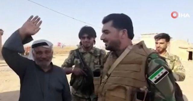 Terörden arındırılan Resulayn'da yaşayan sivilden Suriye Milli Ordusu'na teşekkür