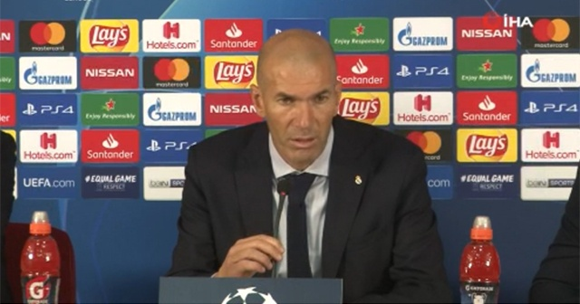"""Zinedine Zidane: """"Courtois bizi yenilgiden kurtardı"""""""