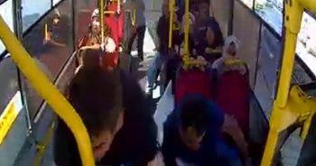 Avcılar'da 5 kişinin yaralandığı kaza anı otobüs kamerasında