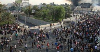 Bağdat'ta yoğun güvenlik önlemlerine rağmen gösteriler sürüyor
