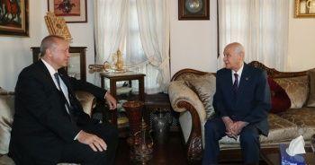 Bahçeli'den Cumhurbaşkanı Erdoğan'a ziyaret hediyesi