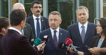 Cumhurbaşkanı Yardımcısı Oktay'dan Semih Yalçın'a taziye ziyareti