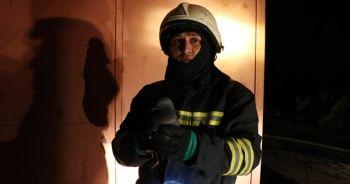Fabrika yangınında itfaiye eri güvercini kurtardı