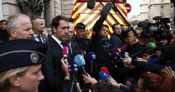 Fransa İçişleri Bakanı Castaner, saldırı yerini ziyaret etti