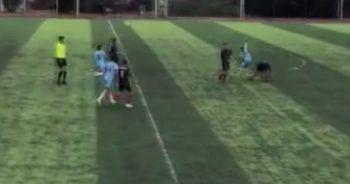Genç futbolcu ölümden döndü! Hakem oyunu devam ettirdi