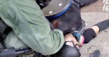 Hong Kong'da polis göstericiyi gerçek mermiyle vurdu