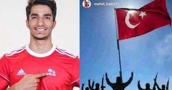 İran'ın Traktör takımından Barış Pınarı'nı destekleyen futbolcusuna destek