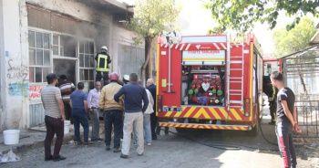 Karaman'da depoda çıkan yangın korkuttu