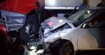 Nurdağı'nda zincirleme kaza: 1 ölü, 3 yaralı