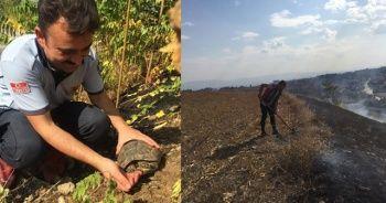 Yangından kurtardığı kaplumbağaya eliyle su içirdi
