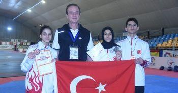 Yıldız taekwondoculardan 3 madalya daha