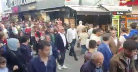Beşiktaş'ta uyarılara rağmen slogan atan HDP'lilere polis müdahalesi