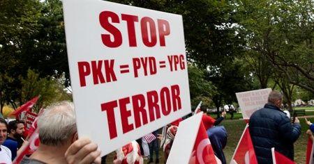 Beyaz Saray önünde Barış Pınarı Harekatı'na destek gösterisi