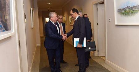 Cumhurbaşkanlığı Sözcüsü Kalın, Lavrentyev ile görüştü