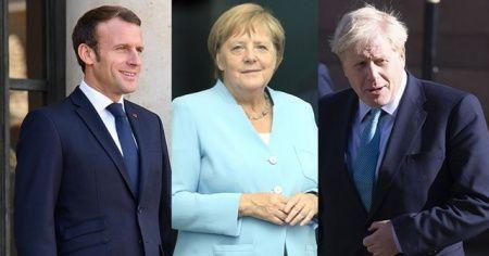 Macron, Merkel ve Johnson, Cumhurbaşkanı Erdoğan ile görüşecek