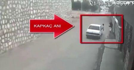 Plakasız araçla kapkaç yapan 2 kişi operasyonla yakalandı