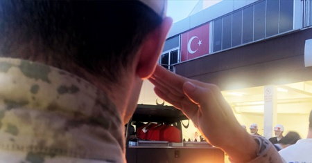 Şehit Uzman Onbaşı Mesut Çelik'in naaşı memleketine getirildi