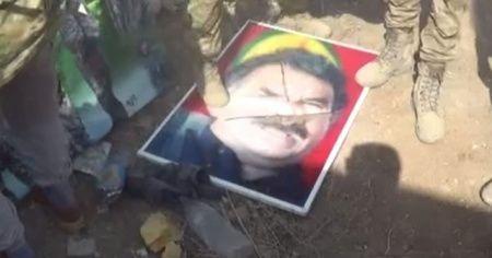 SMO, elebaşı Öcalan'ın posterlerini imha etti