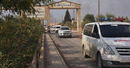 Teröristler Resülayn'dan ambulanslar ve sivil araçlarla kaçıyor