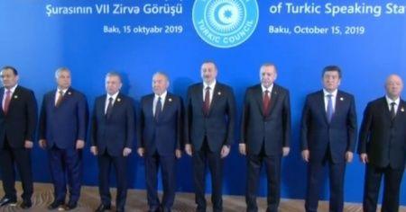 Türk Konseyi 7. Zirvesi'nde liderlerden aile fotoğrafı