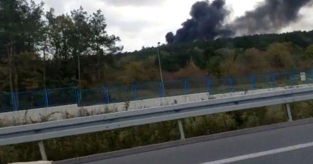 Askeri bölgede yangın çıktı