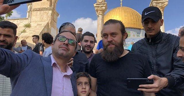 Diriliş Ertuğrul oyuncusuna Kudüs'te yoğun ilgi
