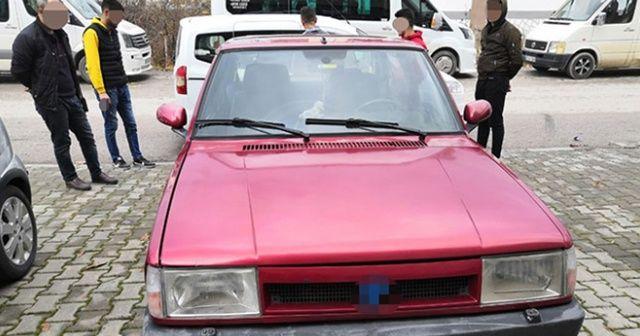 Drift yapan ehliyetsiz sürücüye 9 bin 281 lira ceza