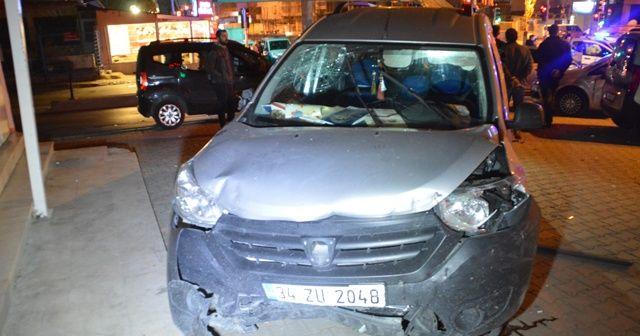 Esenyurt'ta trafik kazası! Kaçmaya çalışan sürücüyü vatandaşlar yakaladı