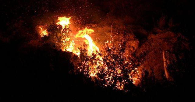 Hatay'da tarihi mağaralara yakın yerde çıkan yangın kontrol altına alındı