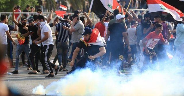 Irak'taki gösterilerde İran yapımı ölümcül gaz bombası tespit edildi