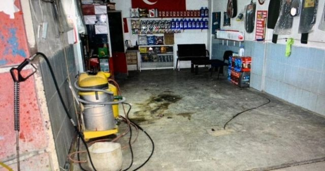 Şiddet gören kadın, eşinin dükkanını molotofladı