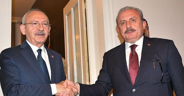 TBMM Başkanı Mustafa Şentop,  Kılıçdaroğlu görüşmesi başladı