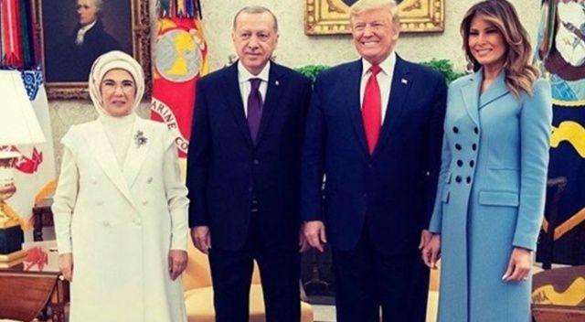 Trump, Erdoğan'ın ziyareti esnasındaki aile fotoğrafını paylaştı