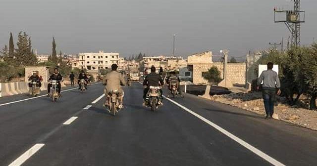 Türkiye sınırı ile Afrin arasına yapılan yol açıldı