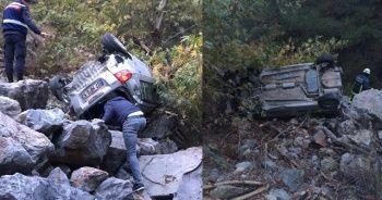 Antalya'da otomobil 70 metrelik şarampole yuvarlandı: 1 ölü