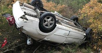 Feci kazada araçtan sağ çıktı