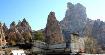Kapadokya'daki baraka tarzı 41 iş yeri yıkıldı
