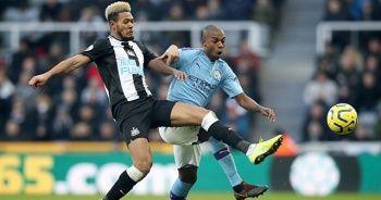 M.City iki kez öne geçtiği maçta Newcastle'ı yenemedi