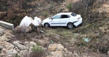 Otomobil şarampole uçtu: 7 yaralı