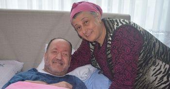 Trabzonsporlu MS hastası, takımının maçını statta izlemenin mutluluğunu yaşıyor