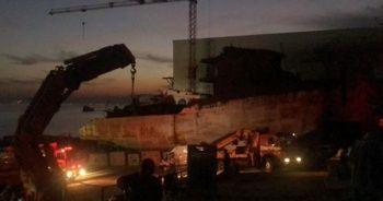 Yalova'da korkutan gemi yangını