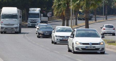 Aliağa'da trafiğe kayıtlı araç sayısı 24 bin 239