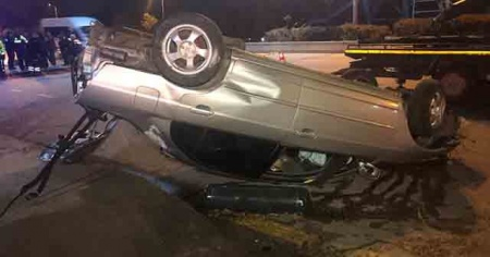 Ankara'da feci kaza! Otomobilden fırlayan sürücü öldü