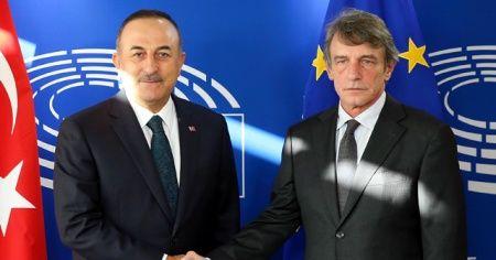 Bakan Çavuşoğlu, Sassoli'ye tepki gösterdi