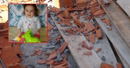 Çöken duvarın altında kalan 3 yaşındaki Damla toprağa verildi