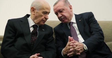 Cumhurbaşkanı Erdoğan, Meclis'te Bahçeli ile bir araya geldi