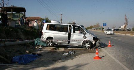 Denizli'de trafik kazası: 1 ölü, 4 yaralı